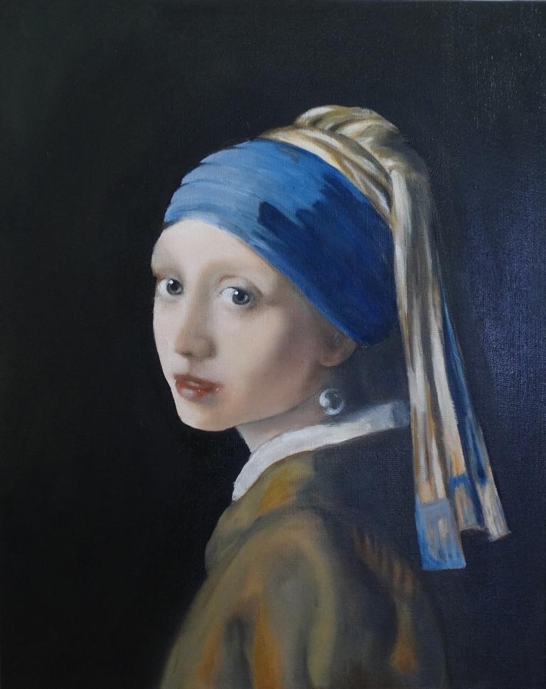 Meisje met de Parel, naar Vermeer