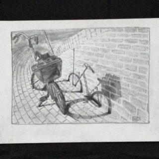 Walking shadows  . . . #art #drawing #drawingaday #academicdrawing #sketching #bike #pencilart #pencilsketch #amsterdam #ronnevandenhurk #classical #klassiekeacademie