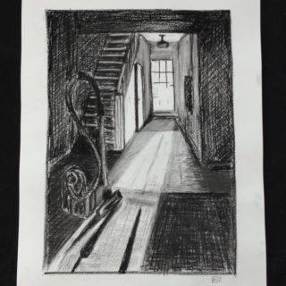 Light in the hall Charcoal on paper 50x70cm . . . #art #drawing #charcoal #shadow #happy #hatching #blackandwhite #light #klassiekeacademie #vacuumcleaner #ronnevandenhurk #classicacademia #classicacademia