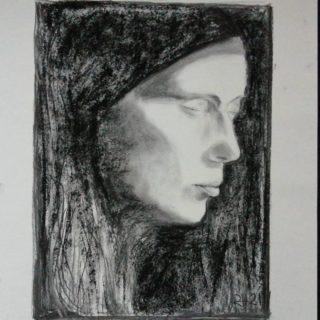 More me Charcoal 40x50cm  . . . #drawing #sketching #academicdrawing #drawingaday #portret #portraiture #charcoal #art #klassiekeacademie #woman #selfportrait