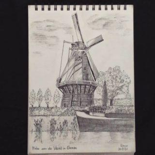 Windmill near the river de Vecht in Ommen, the Netherlands. Pendrawing . . . #drawing #sketching #academicdrawing #drawingaday #thenetherlands🇳🇱 #Ommen #salland #vecht #windmill #pencildrawing #pendrawings #penart #klassiekeacademie #pleinairdrawing